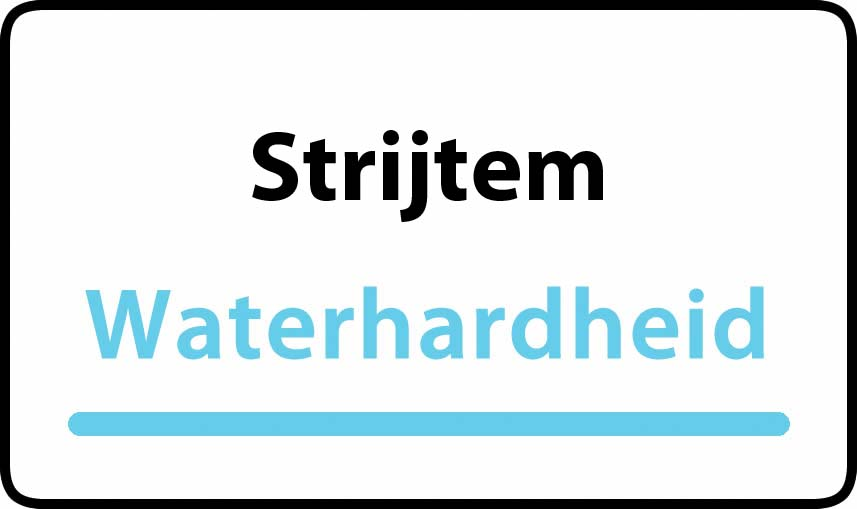 waterhardheid in Strijtem is hard water 42 °F Franse graden