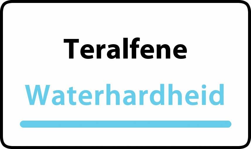 waterhardheid in Teralfene is middel hard water 23 °F Franse graden