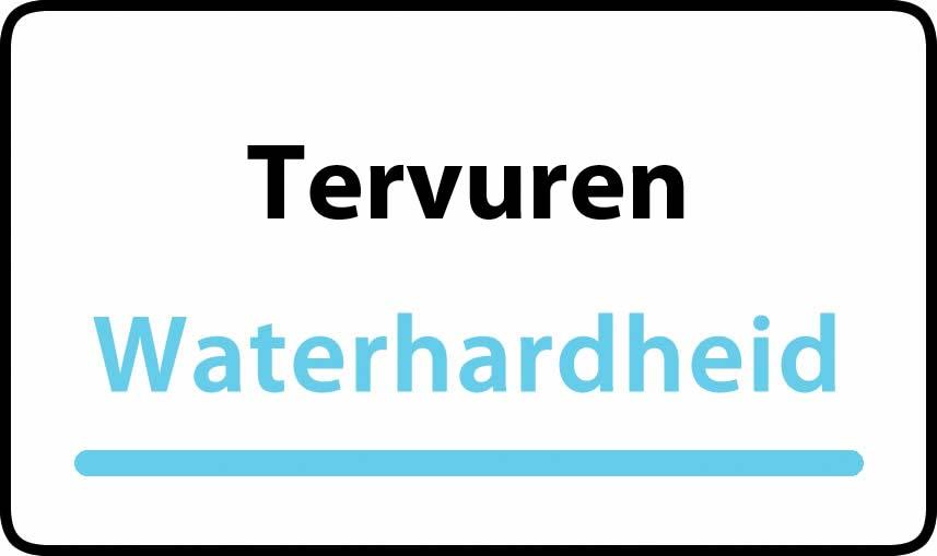 waterhardheid in Tervuren is hard water 36 °F Franse graden