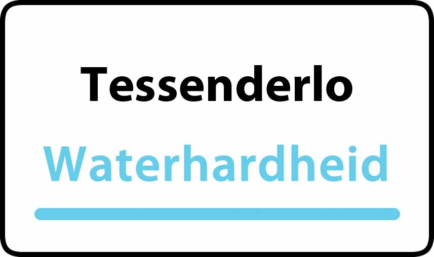 waterhardheid in Tessenderlo is middel hard water 15 °F Franse graden