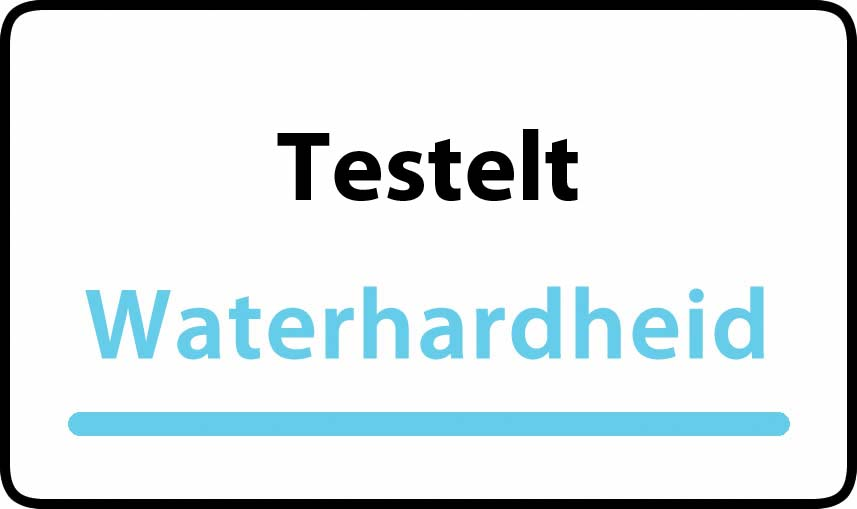 waterhardheid in Testelt is middel hard water 17 °F Franse graden