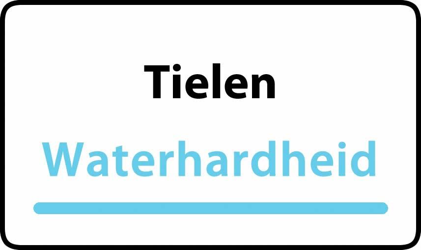 waterhardheid in Tielen is middel hard water 16 °F Franse graden