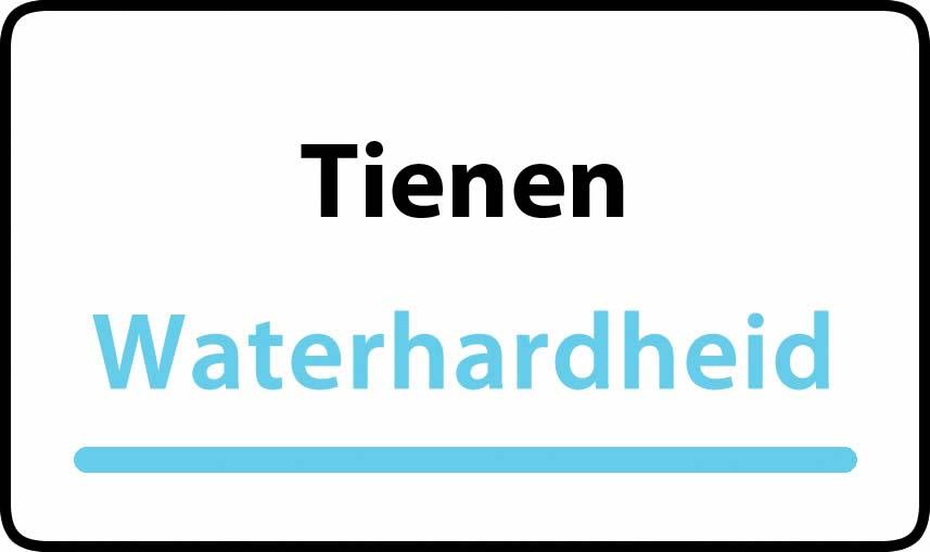 waterhardheid in Tienen is zeer hard water 51 °F Franse graden