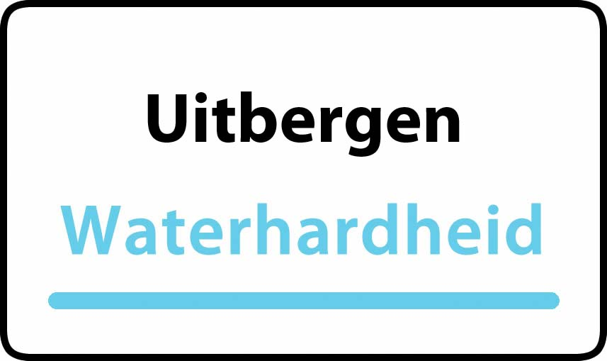 waterhardheid in Uitbergen is middel hard water 18 °F Franse graden