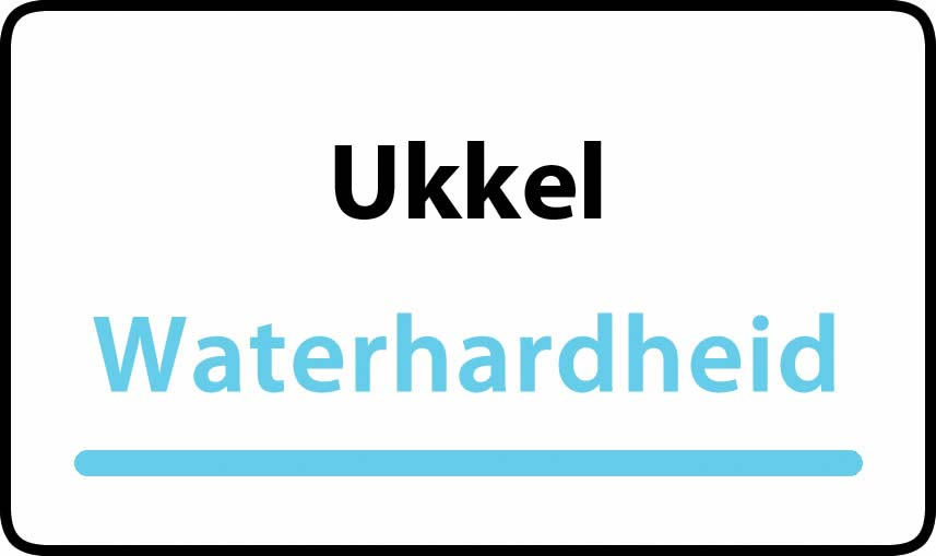 waterhardheid in Ukkel is middel hard water 24 °F Franse graden