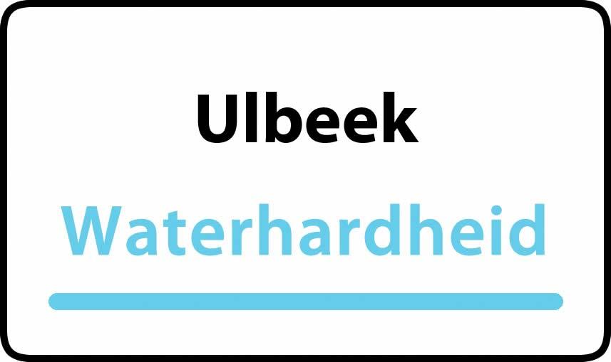 waterhardheid in Ulbeek is hard water 38 °F Franse graden