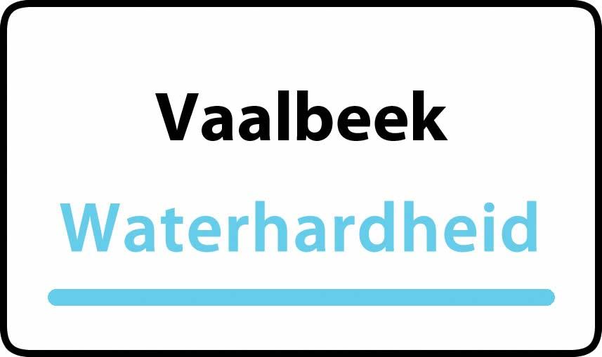 waterhardheid in Vaalbeek is hard water 37 °F Franse graden