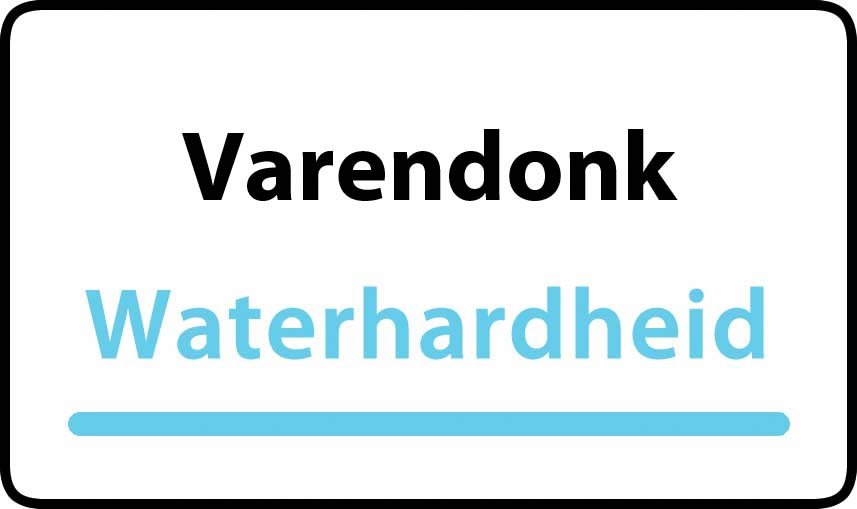 waterhardheid in Varendonk is middel hard water 19 °F Franse graden