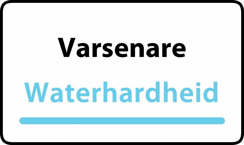 waterhardheid in Varsenare is hard water 34 °F Franse graden