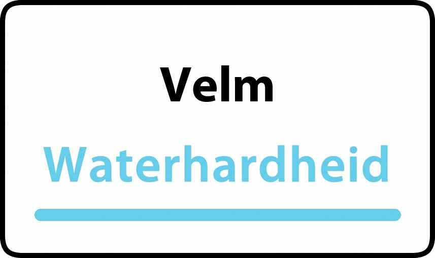 waterhardheid in Velm is hard water 38 °F Franse graden