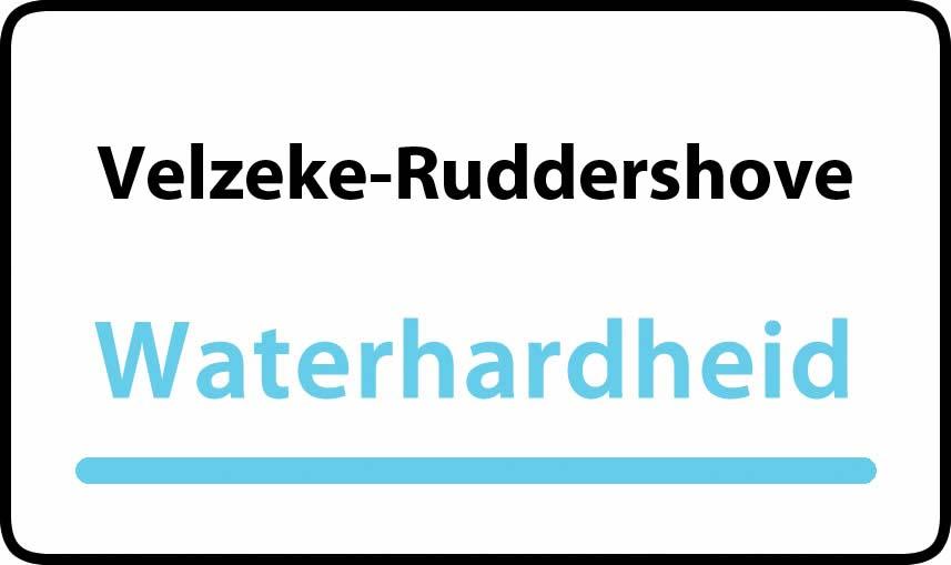 waterhardheid in Velzeke-Ruddershove is hard water 39 °F Franse graden
