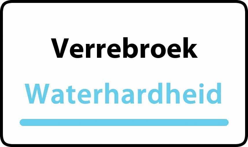 waterhardheid in Verrebroek is hard water 31 °F Franse graden