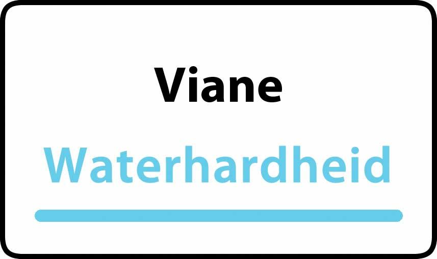 waterhardheid in Viane is zeer hard water 55 °F Franse graden