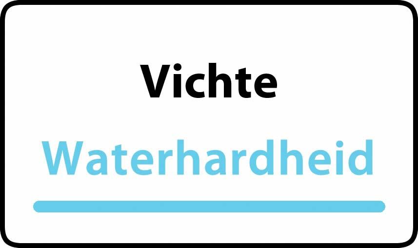 waterhardheid in Vichte is zeer hard water 46 °F Franse graden