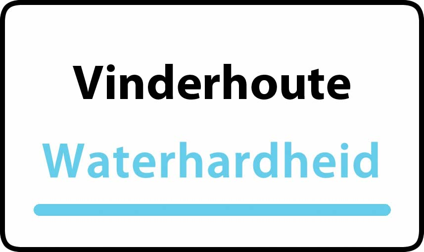 waterhardheid in Vinderhoute is middel hard water 23 °F Franse graden