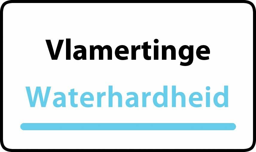 waterhardheid in Vlamertinge is zeer hard water 45 °F Franse graden