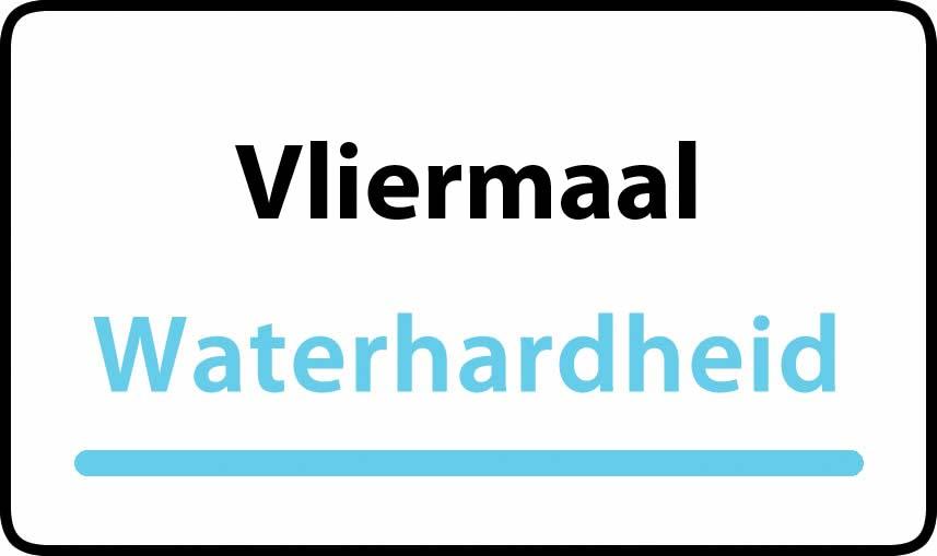 waterhardheid in Vliermaal is hard water 35 °F Franse graden