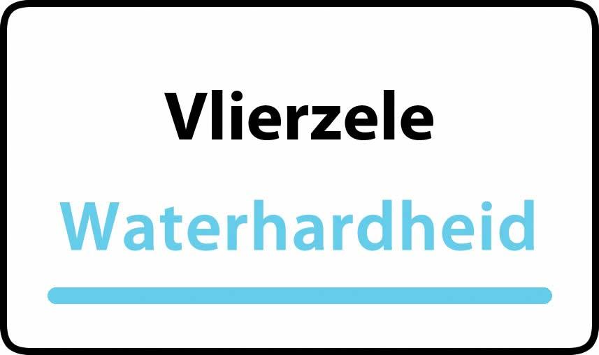 waterhardheid in Vlierzele is middel hard water 23 °F Franse graden