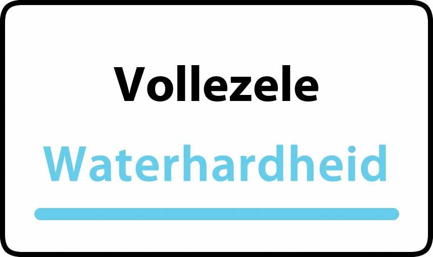 waterhardheid in Vollezele is hard water 44 °F Franse graden