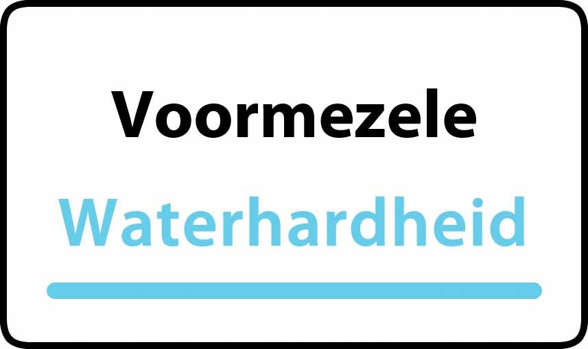 waterhardheid in Voormezele is zeer hard water 45 °F Franse graden
