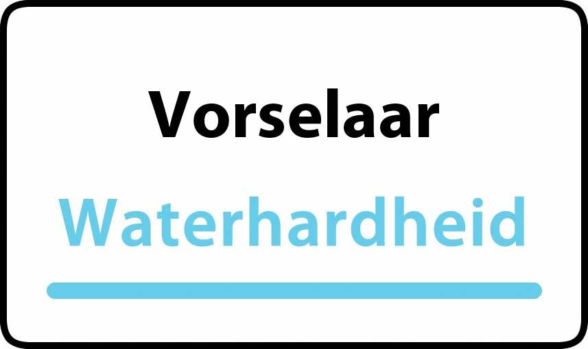 waterhardheid in Vorselaar is middel hard water 16 °F Franse graden