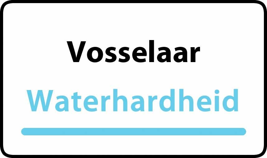 waterhardheid in Vosselaar is middel hard water 16 °F Franse graden