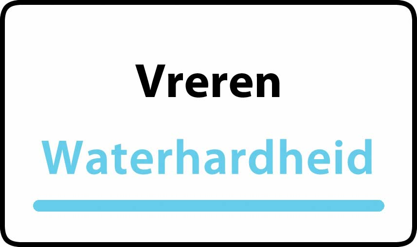 waterhardheid in Vreren is hard water 37 °F Franse graden