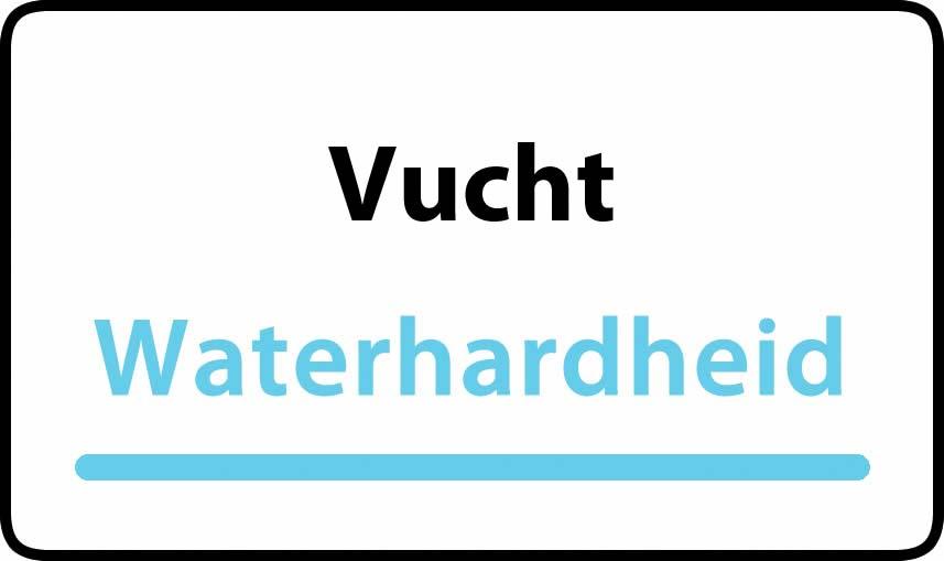 waterhardheid in Vucht is middel hard water 22 °F Franse graden