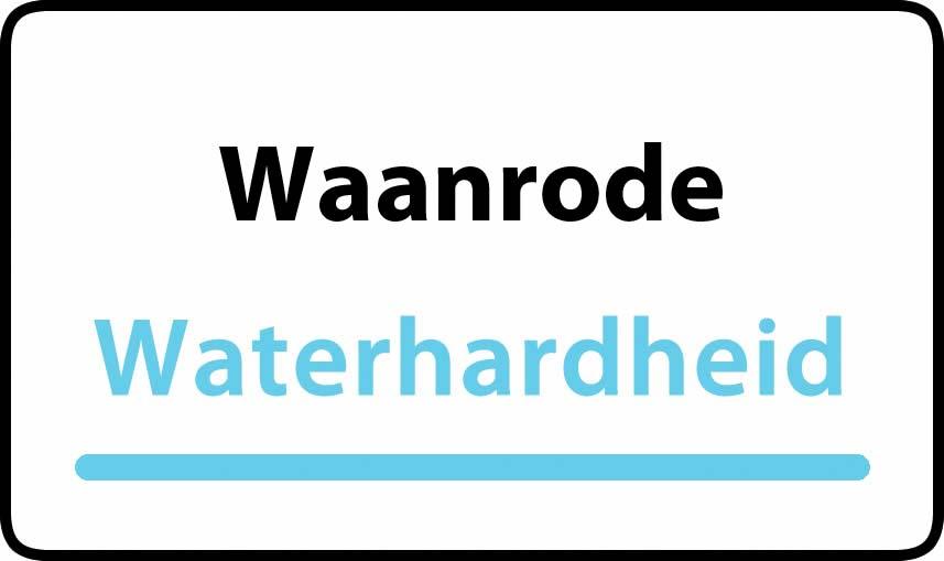 waterhardheid in Waanrode is middel hard water 21 °F Franse graden