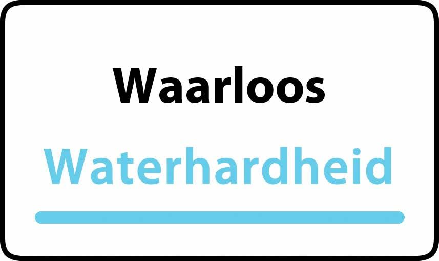 waterhardheid in Waarloos is middel hard water 17 °F Franse graden