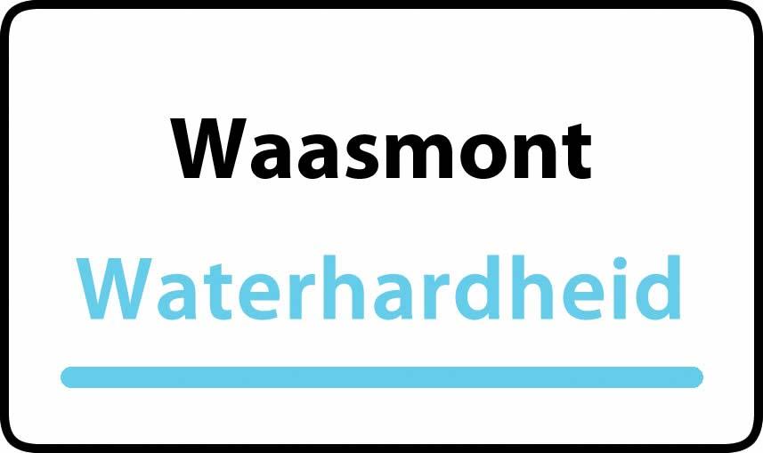 waterhardheid in Waasmont is middel hard water 21 °F Franse graden