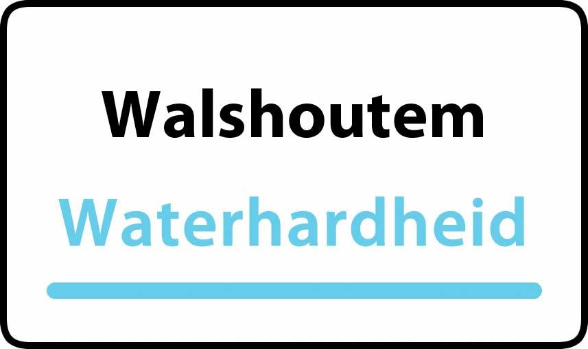 waterhardheid in Walshoutem is hard water 38 °F Franse graden