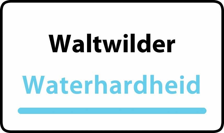 waterhardheid in Waltwilder is hard water 35 °F Franse graden