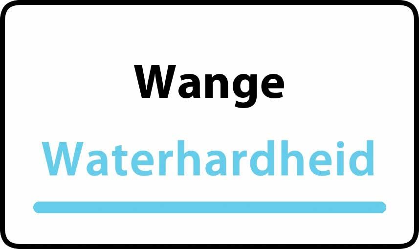 waterhardheid in Wange is middel hard water 18 °F Franse graden