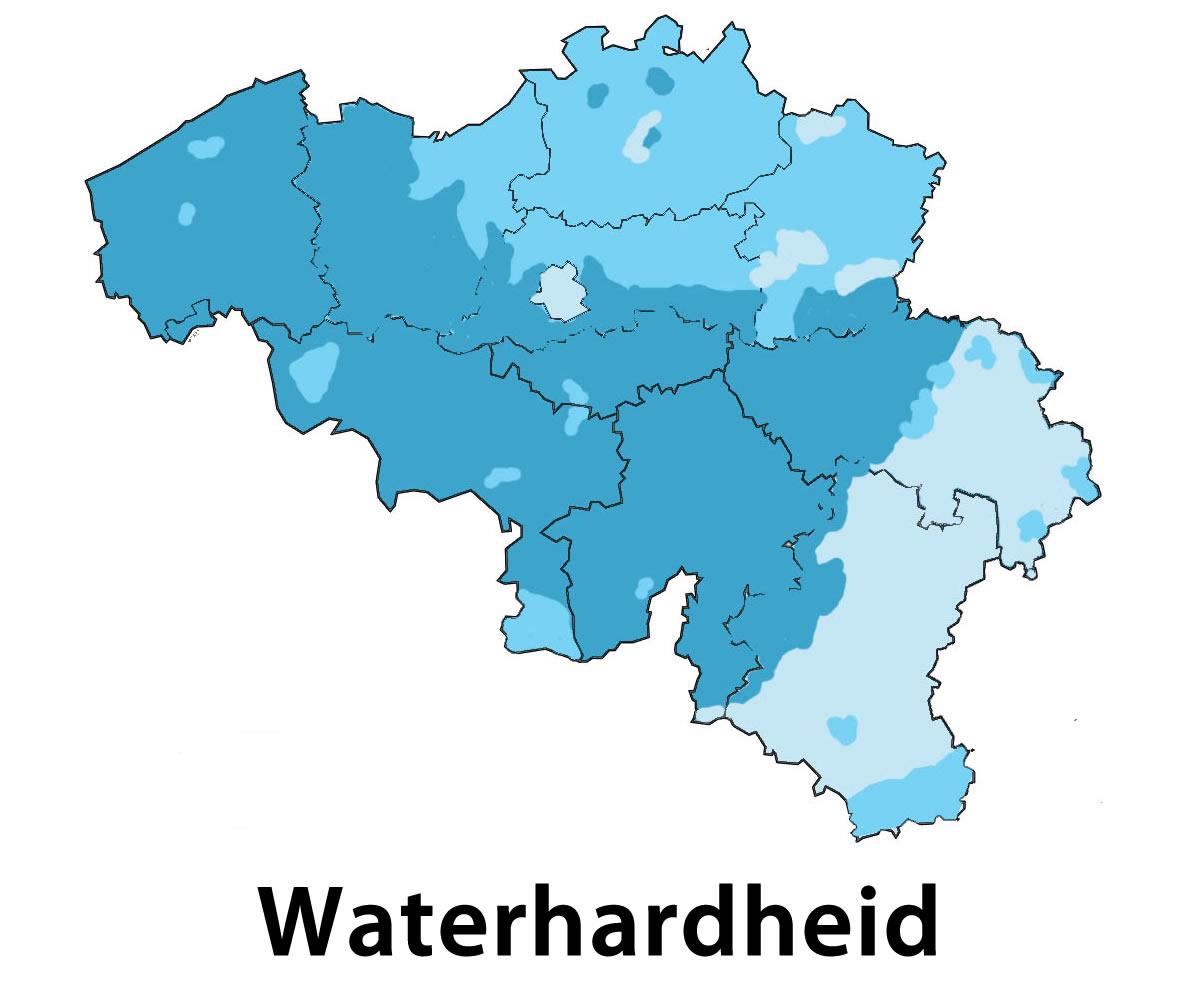 Waterhardheid kaart Duffel