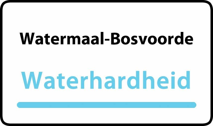 waterhardheid in Watermaal-Bosvoorde is hard water 36 °F Franse graden