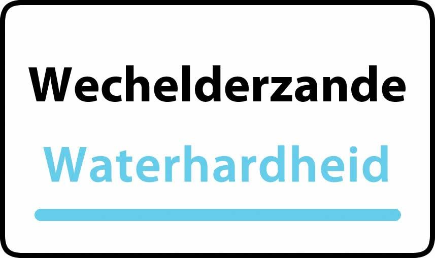 waterhardheid in Wechelderzande is middel hard water 18 °F Franse graden