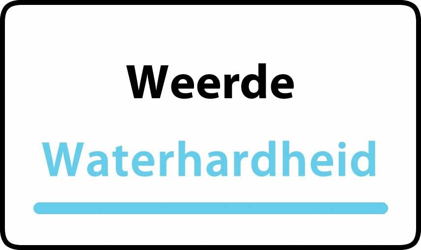 waterhardheid in Weerde is hard water 36 °F Franse graden