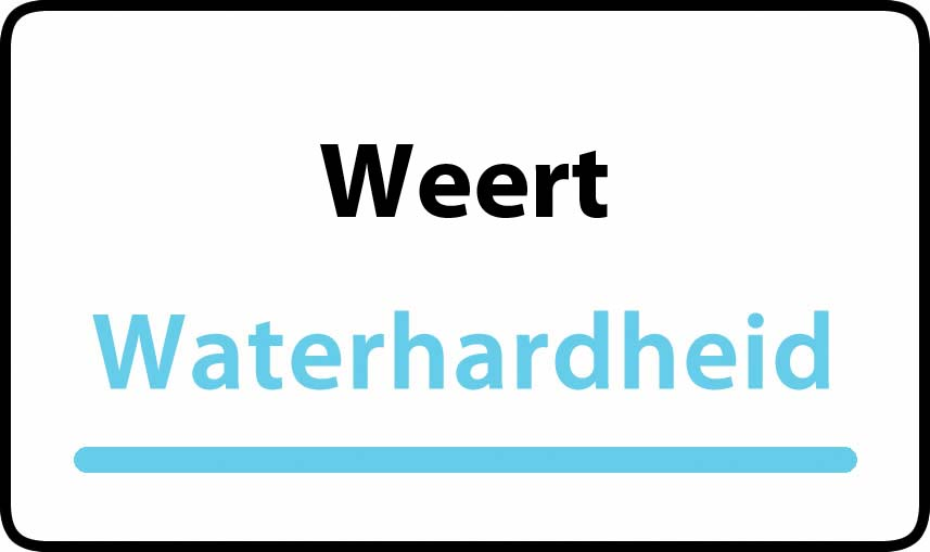 waterhardheid in Weert is middel hard water 18 °F Franse graden