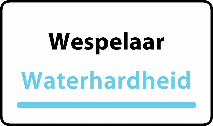 waterhardheid in Wespelaar is hard water 36 °F Franse graden