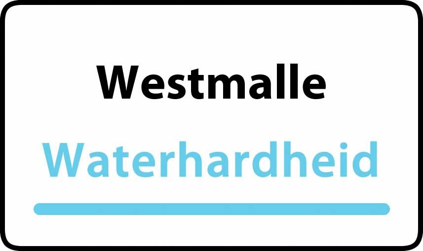 waterhardheid in Westmalle is middel hard water 18 °F Franse graden