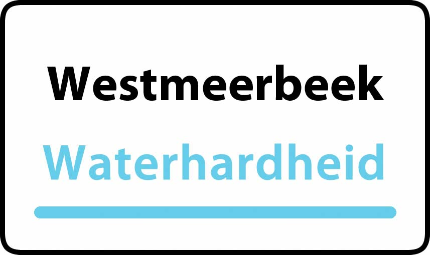 waterhardheid in Westmeerbeek is middel hard water 19 °F Franse graden