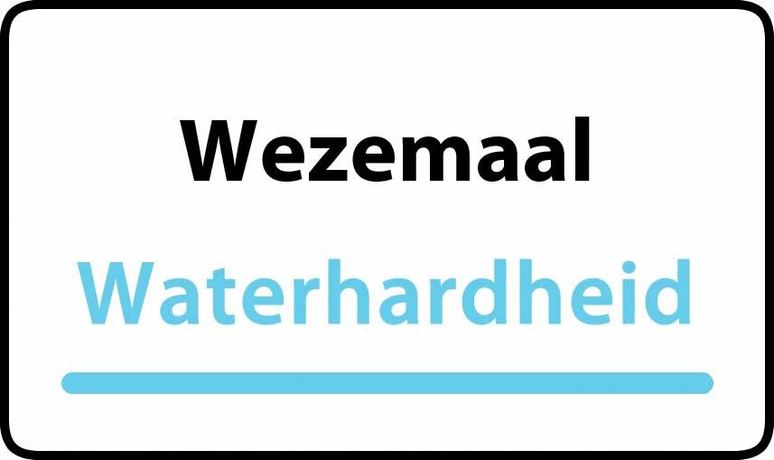 waterhardheid in Wezemaal is hard water 37 °F Franse graden