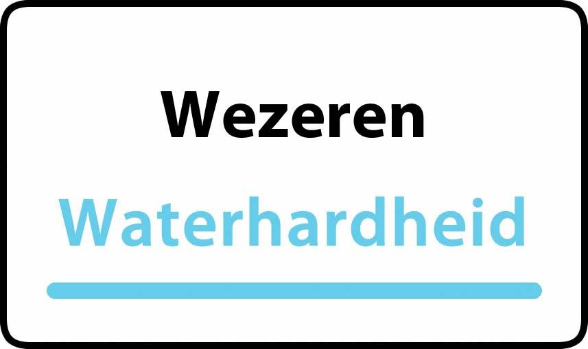 waterhardheid in Wezeren is middel hard water 18 °F Franse graden