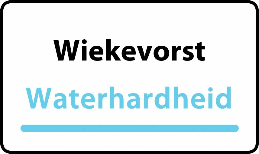 waterhardheid in Wiekevorst is middel hard water 19 °F Franse graden