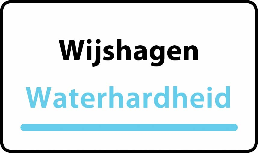 waterhardheid in Wijshagen is middel hard water 18 °F Franse graden