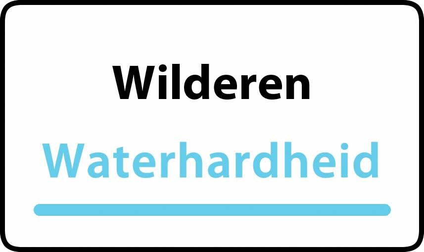 waterhardheid in Wilderen is hard water 38 °F Franse graden
