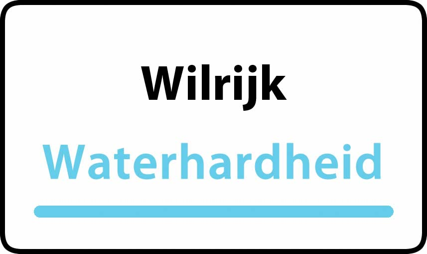 waterhardheid in Wilrijk is middel hard water 18 °F Franse graden