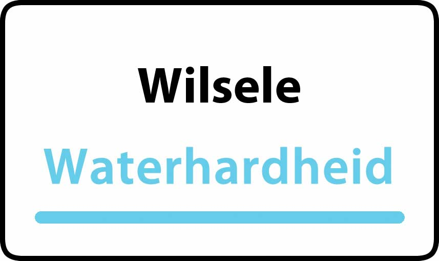 waterhardheid in Wilsele is hard water 34 °F Franse graden