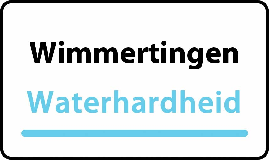 waterhardheid in Wimmertingen is middel hard water 22 °F Franse graden